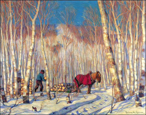 March in the Birch Woods Clarence Gagnon